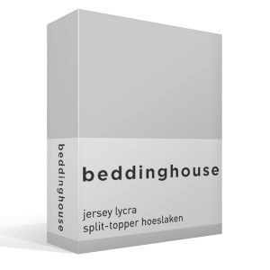 Beddinghouse jersey lycra split-topper hoeslaken-Lits-jumeaux (200x200/220 cm)-Light grey-Beddinghouse-Premium Jersey Lycra