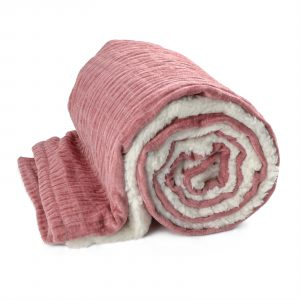 Unique Living Lois fleece plaid-130x180 cm-Ash Rose-Unique Living-Lois