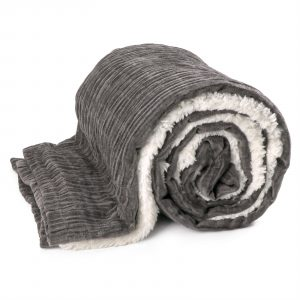 Unique Living Lois fleece plaid-130x180 cm-Dark grey-Unique Living-Lois